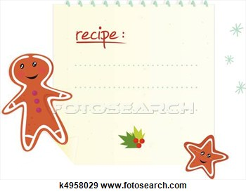 Christmas Recipe With Cookies Isolated On White Background  Write Your