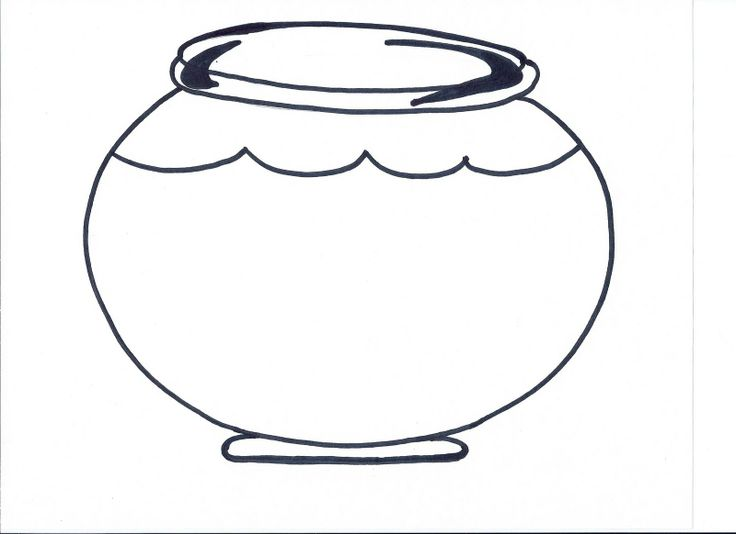 Fish bowl clipart clipart suggest for Fish bowl coloring pages