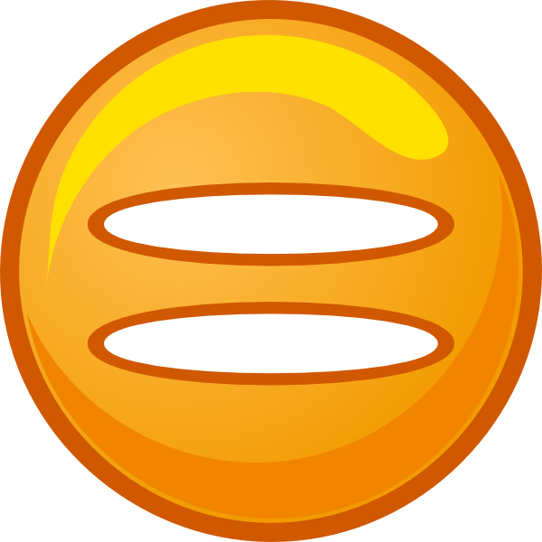 Equals Sign Orange Round Icon Clip Art At Clker Com   Vector Clip Art