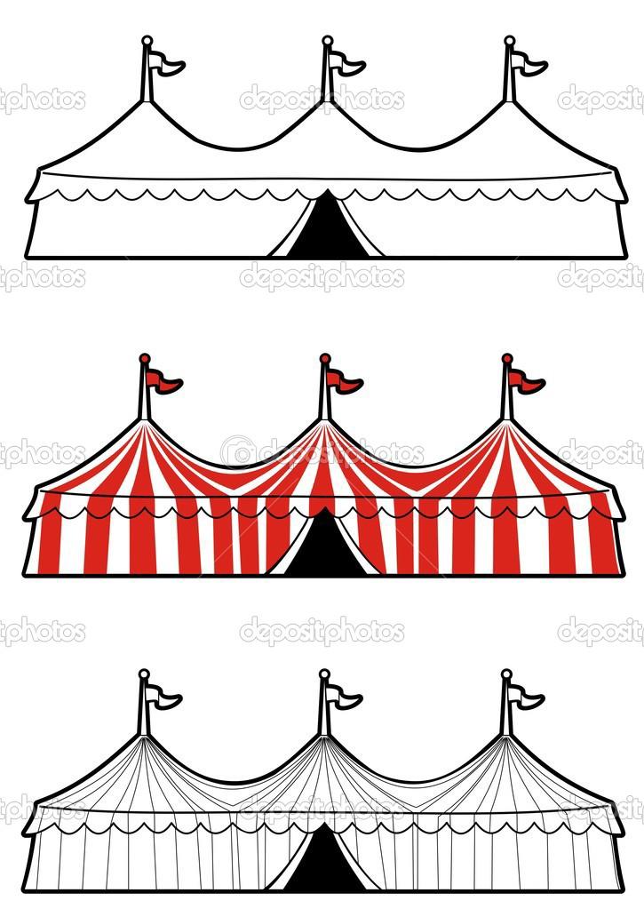 Black And White Carnival Tent Clip Art