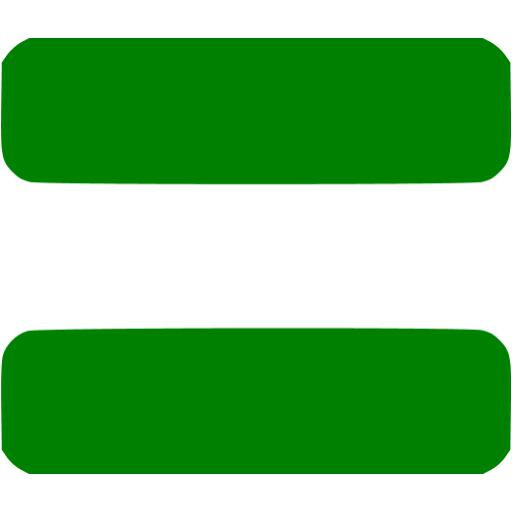 Green Equal Sign Green Equal Sign 2 Icon