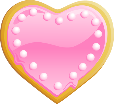 Heart Shaped Cookie With Pink Frosting   Free Clip Arts Online   Fotor