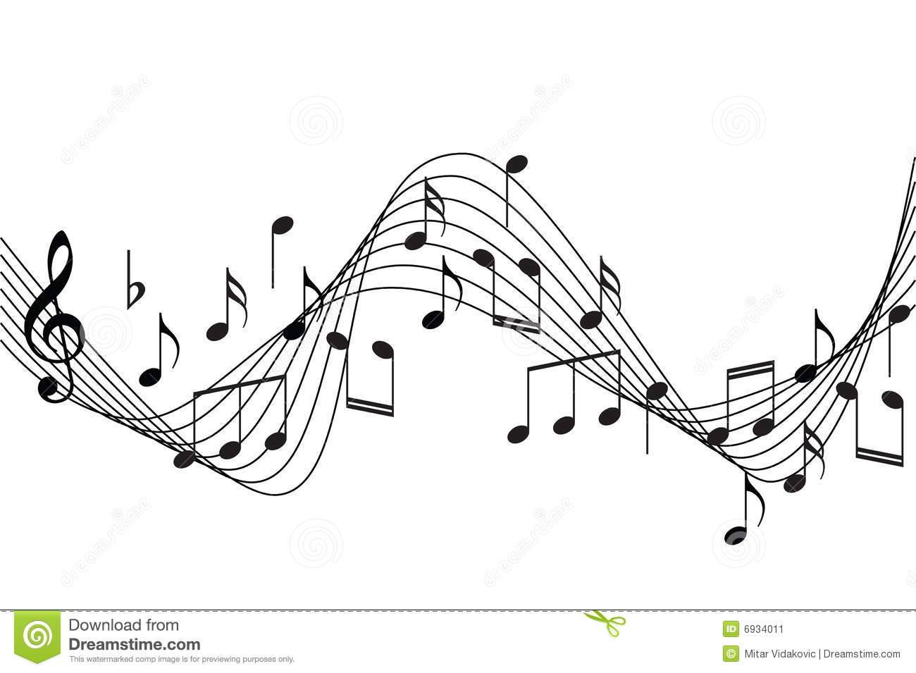 Music Notes Backgrounds: Music Score Transparent Clipart