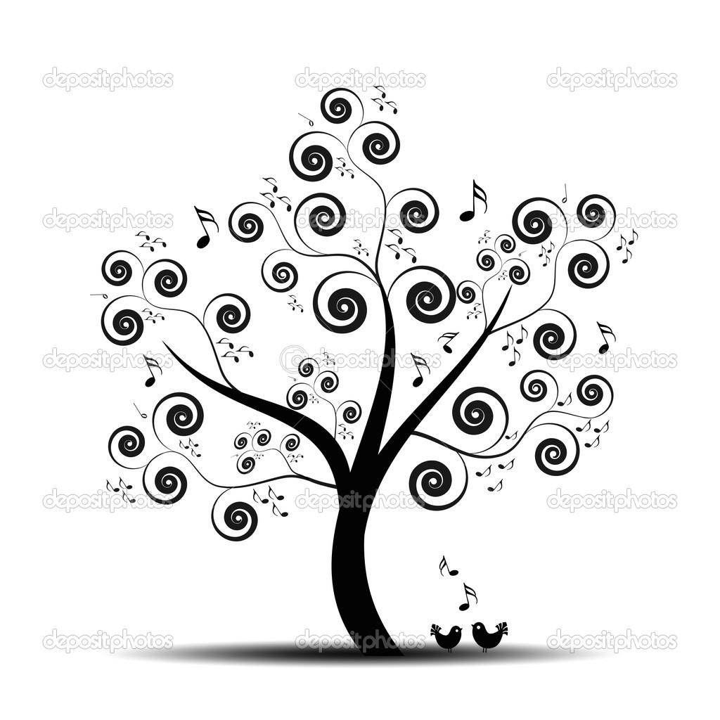 Music Tree   Stock Vector   Ibphoto  5952593