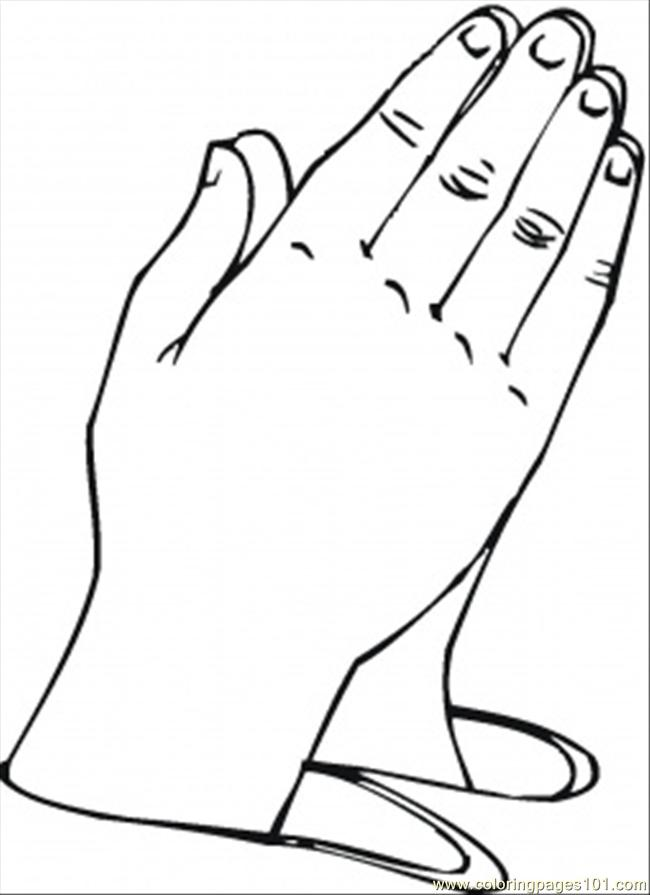 free printable coloring pages on prayer | Praying Hands Printable Clipart - Clipart Suggest