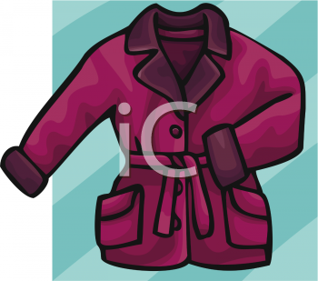 Woman S Winter Coat   Royalty Free Clipart Picture