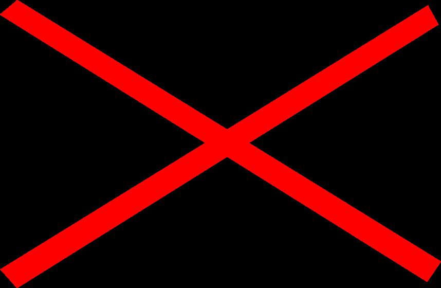 Transparent x mark