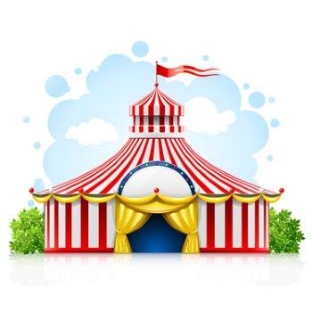 A4 Edible Image   Big Top Circus Tent Cake Top