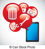 App Stock Illustrations  222581 App Clip Art Images And Royalty Free