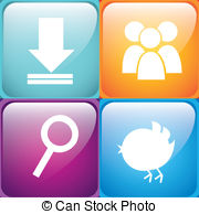 App Store   Colorful Four Apps Background App Store Vector