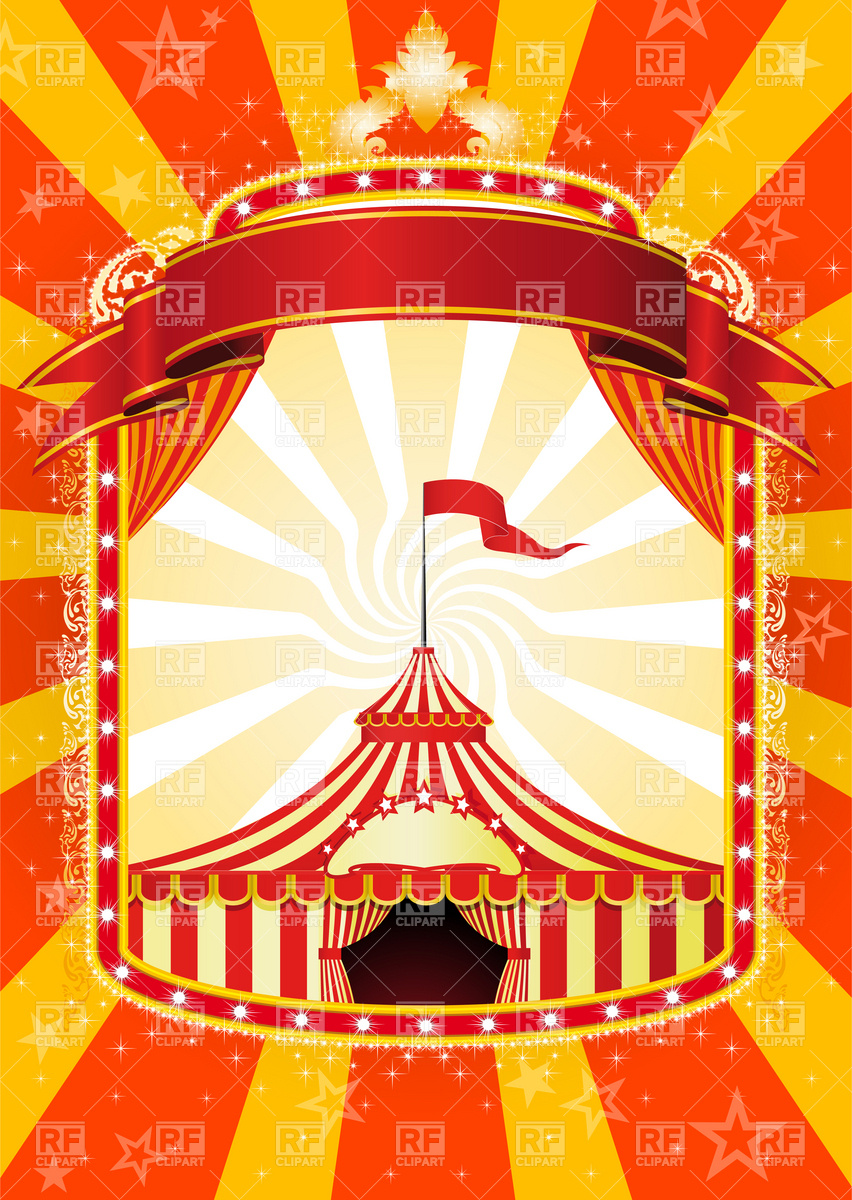 Banner And Big Top Circus Download Royalty Free Vector Clipart  Eps