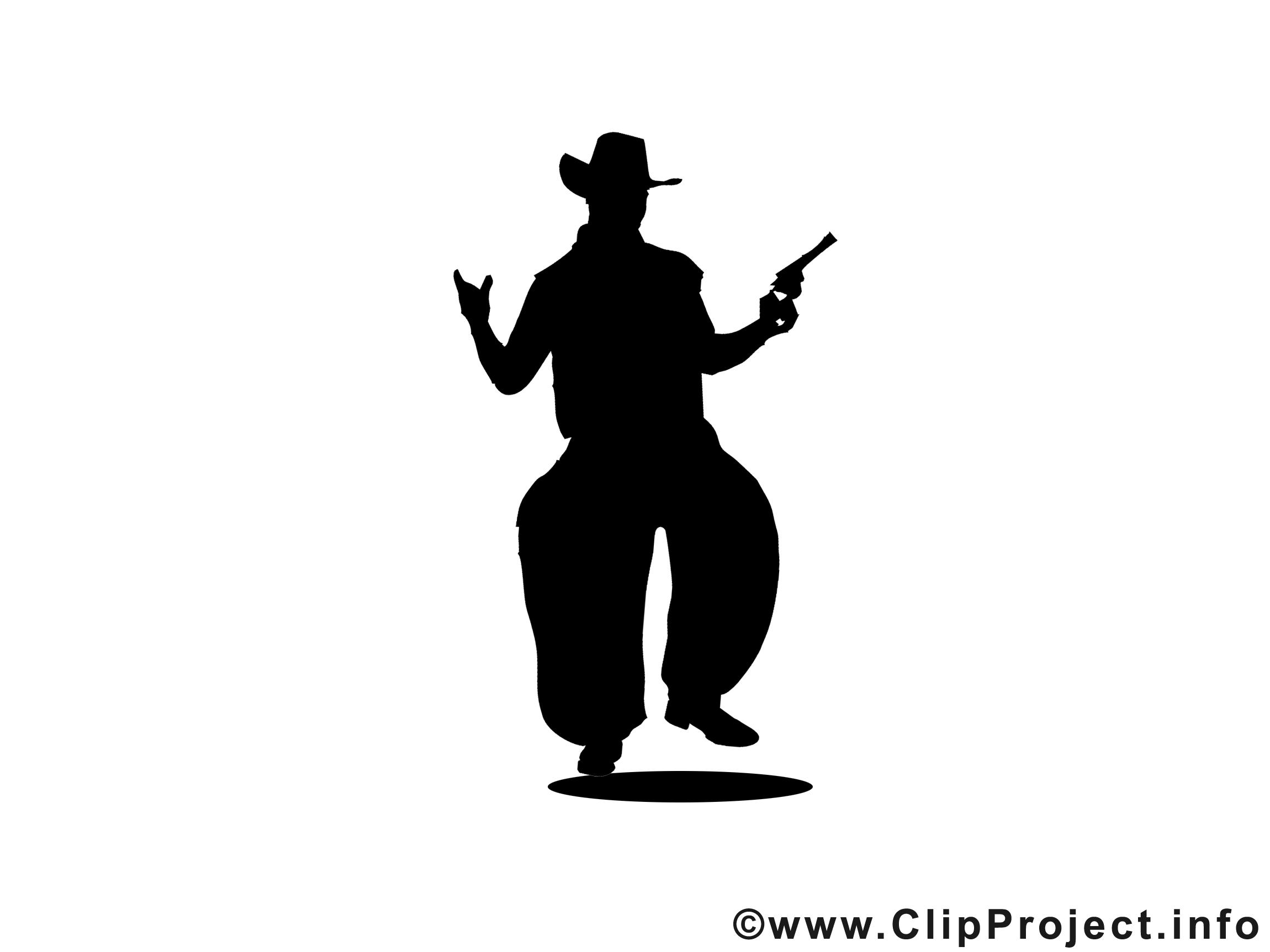Cowboy profile silhouette clip art - photo#24