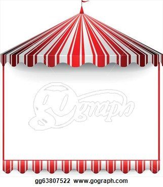 Carnivals Frame With A Circus Tent On Top  Clipart Drawing Gg63807522
