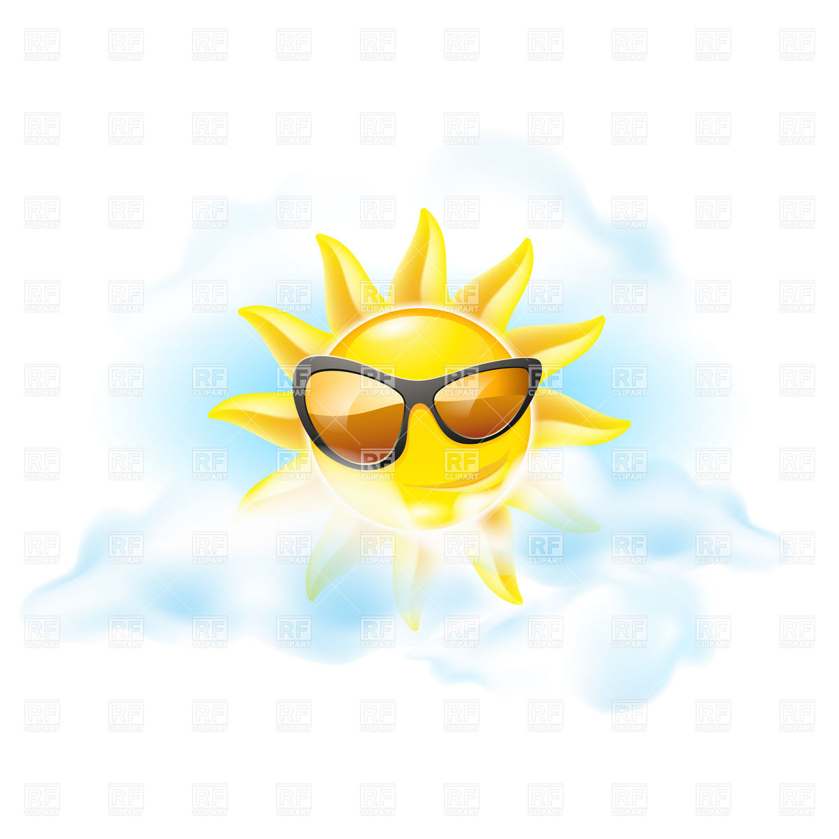 Cartoon Sun   Summer Symbol Download Royalty Free Vector Clipart  Eps