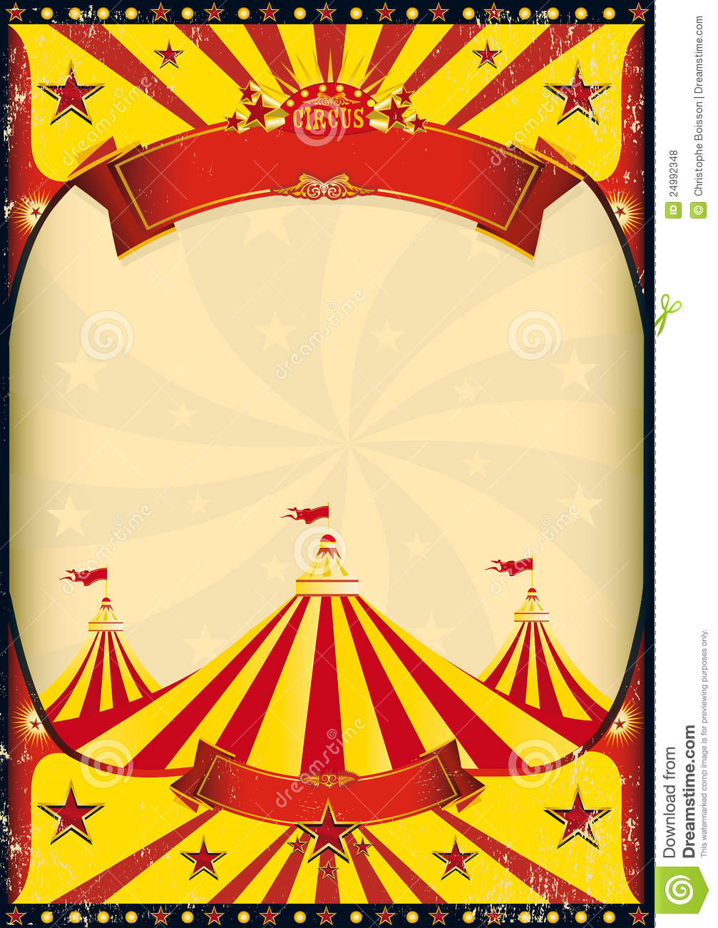 Circus Poster Big Top Royalty Free Stock Photos   Image  24992348