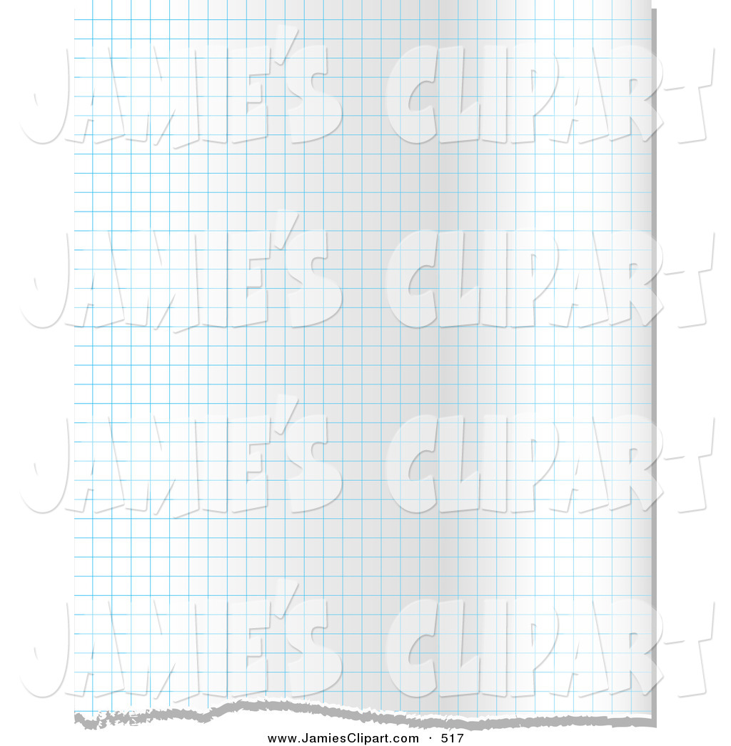 Clip Art Of A Background Of Blue Grid Lines On Ripped Graph Paper With