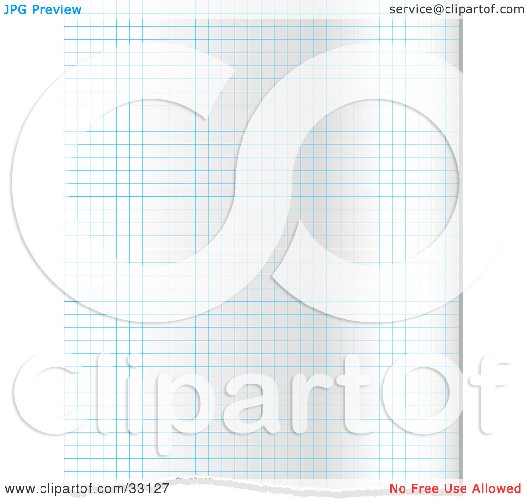 Clipart Illustration Of A Background Of Blue Grid Lines On Graph Paper