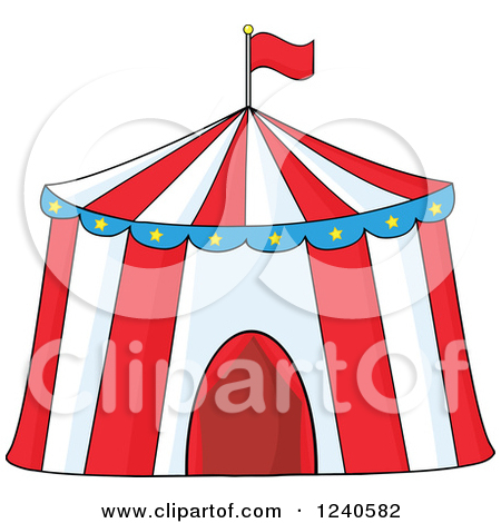 Clipart Of A Big Top Circus Tent   Royalty Free Vector Illustration By