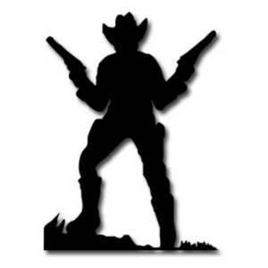 Cowboy profile silhouette clip art - photo#26