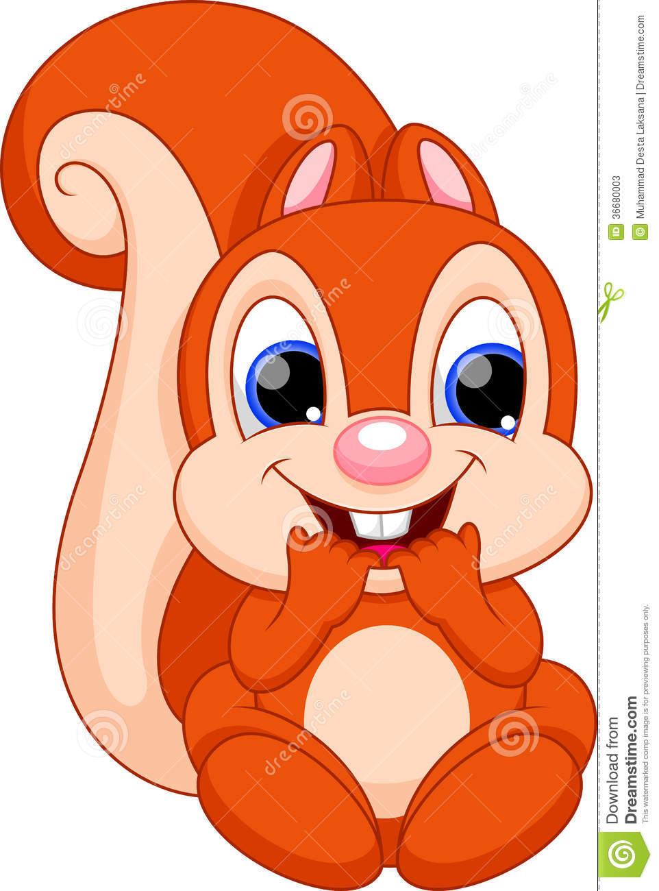 Cute Baby Squirrel Clipart