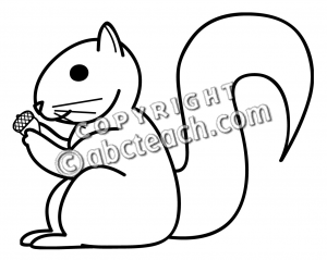 Cute Squirrel Clipart Black And White   Clipart Panda   Free Clipart