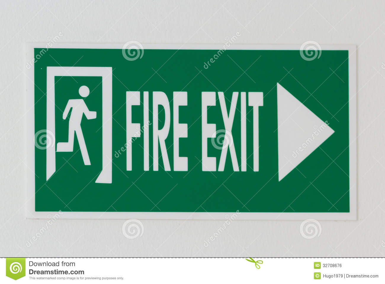 Direction Of Exit Signboard For Emergency Evacuation Purpose