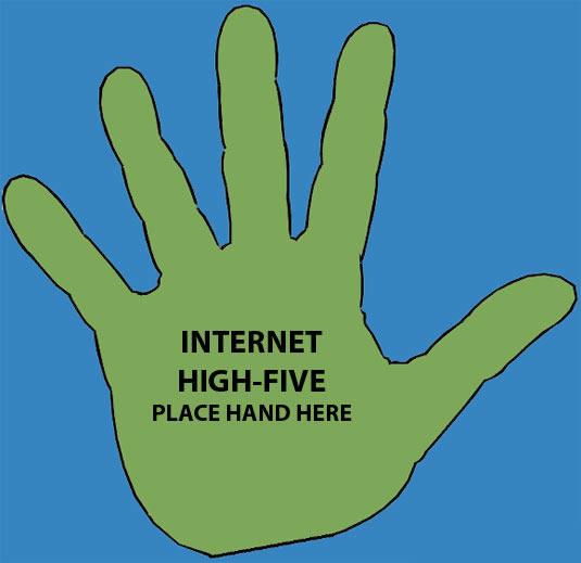 Internet Hi-Five Clip Art