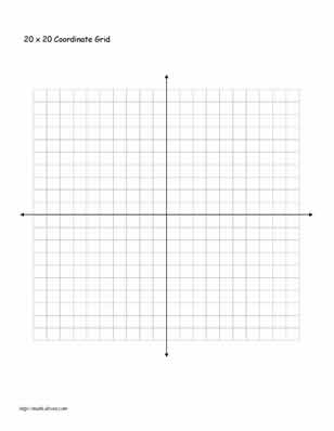Graph Paper For Coordinates  Algebra Graph Paper