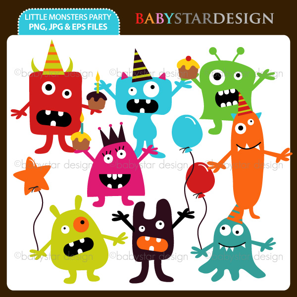Monster Party Clipart Monsters Cliparts     5