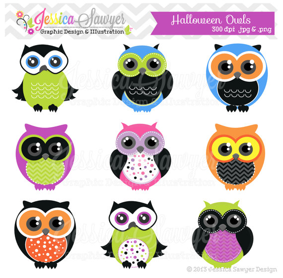 Owl Clipart Orange And Black Clip Art Halloween Party Printable