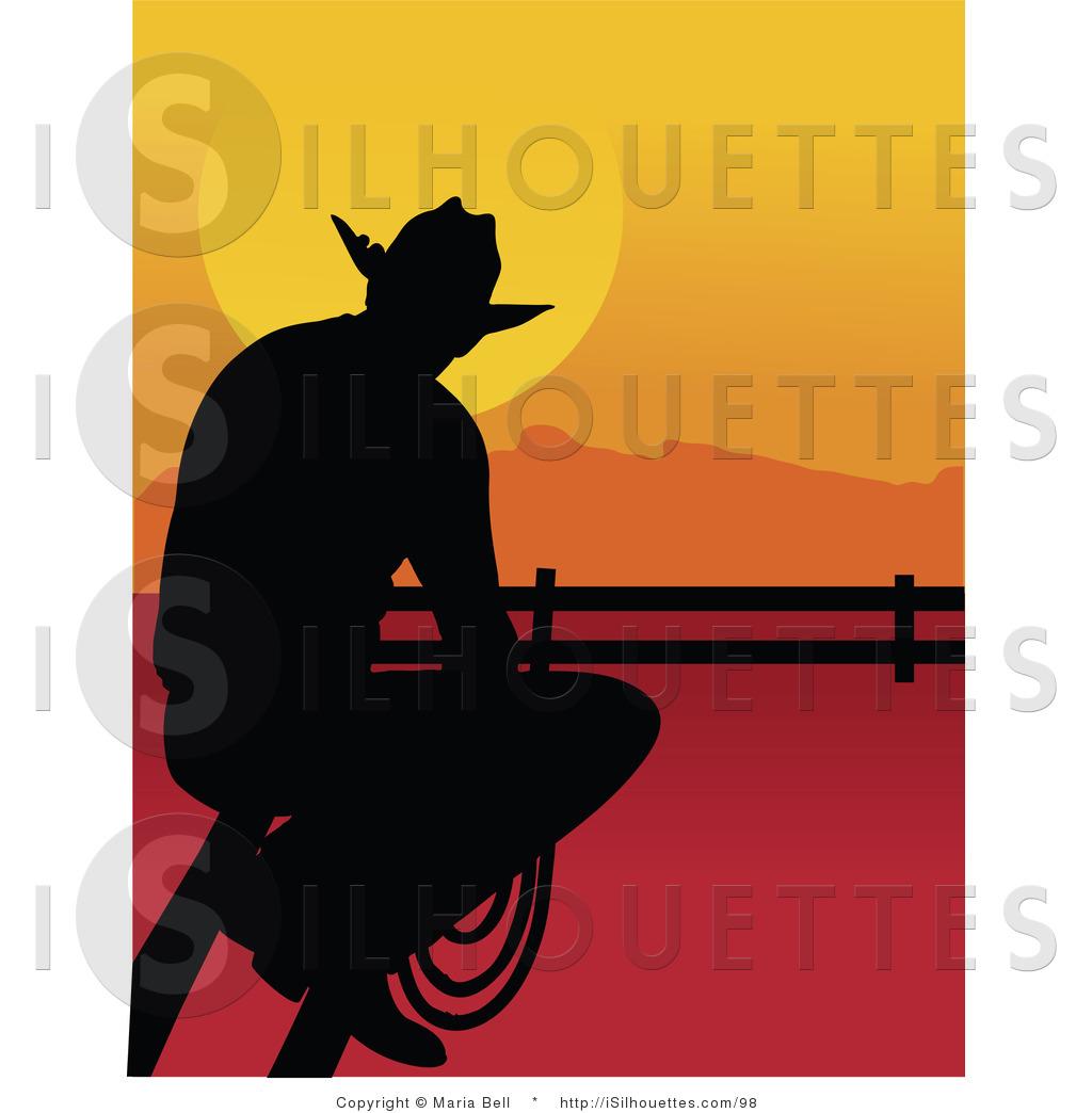 Cowboy profile silhouette clip art - photo#11