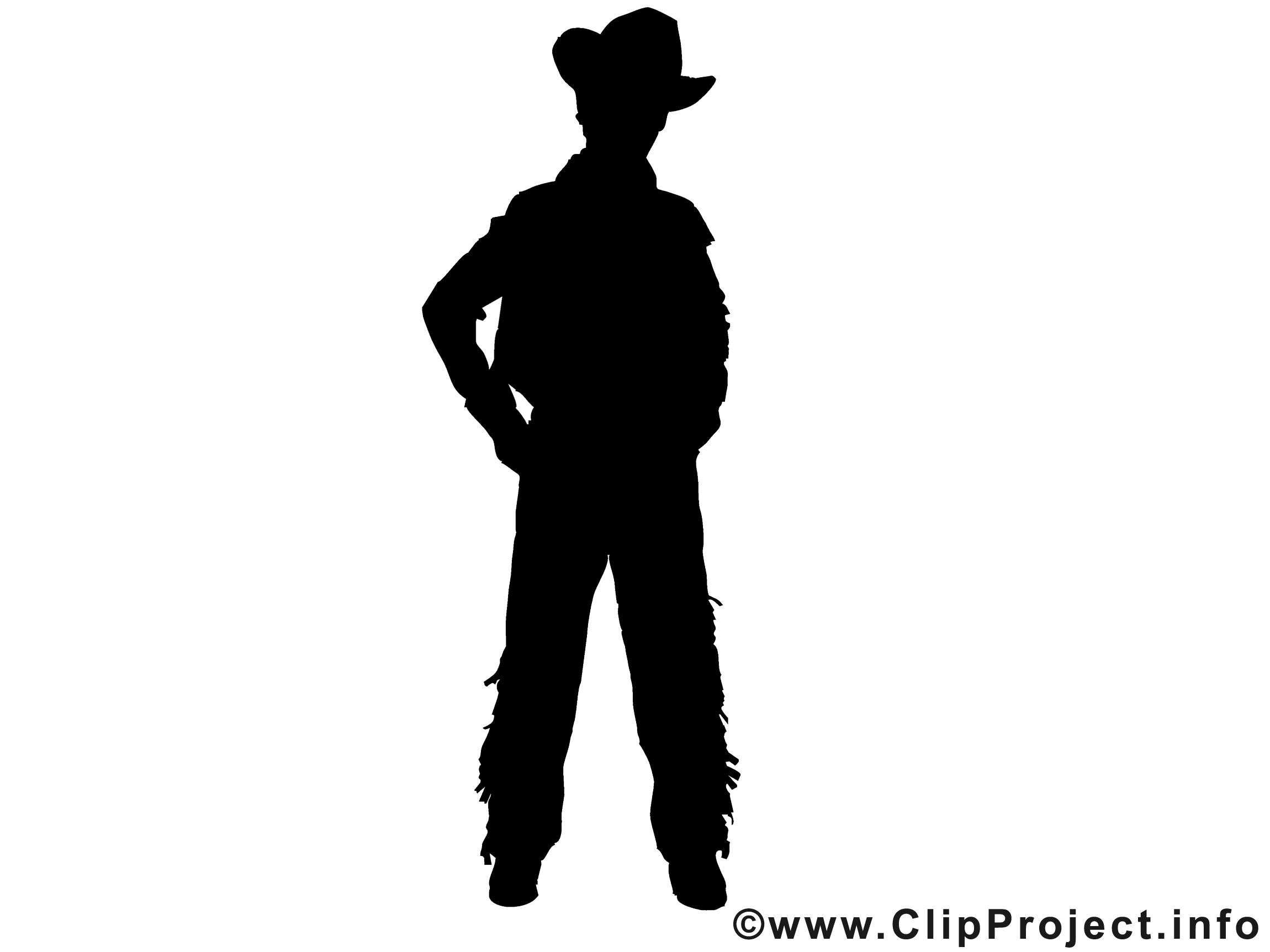 Cowboy Silhouette Clipart - Clipart Kid