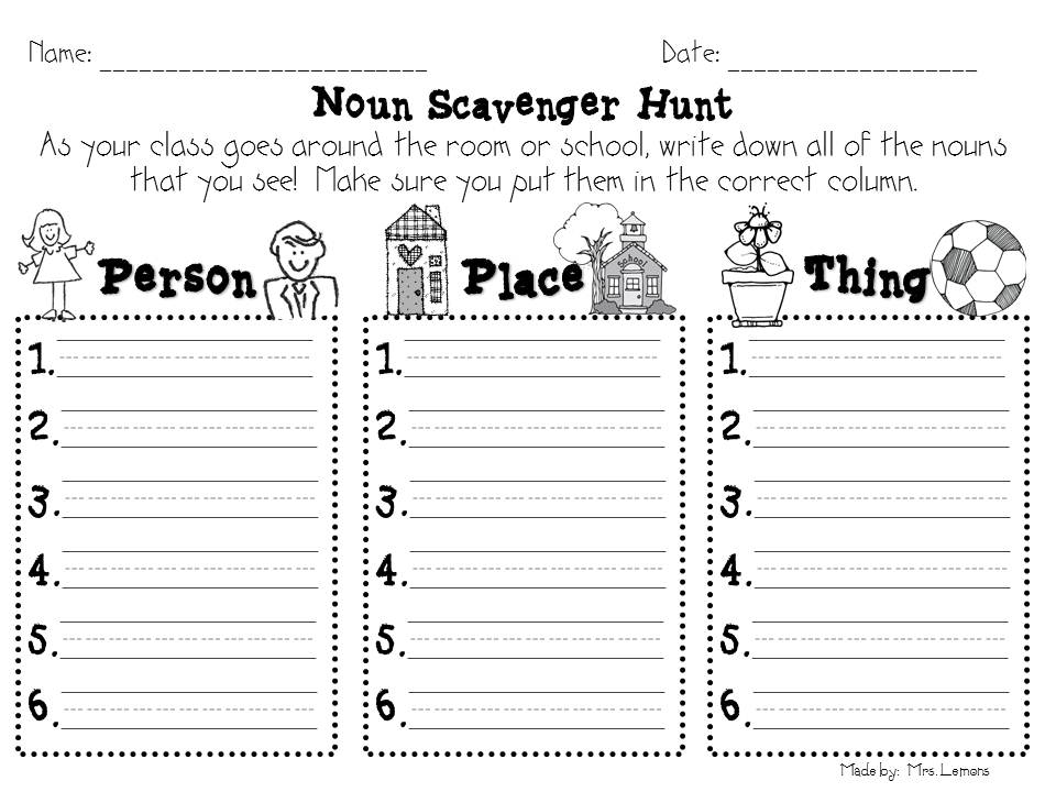 Printables Noun Worksheets 2nd Grade noun activities for grade 2 coffemix