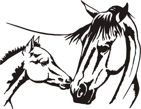 10 Quarter Horse Face Silhouette Free Cliparts That You Can Download