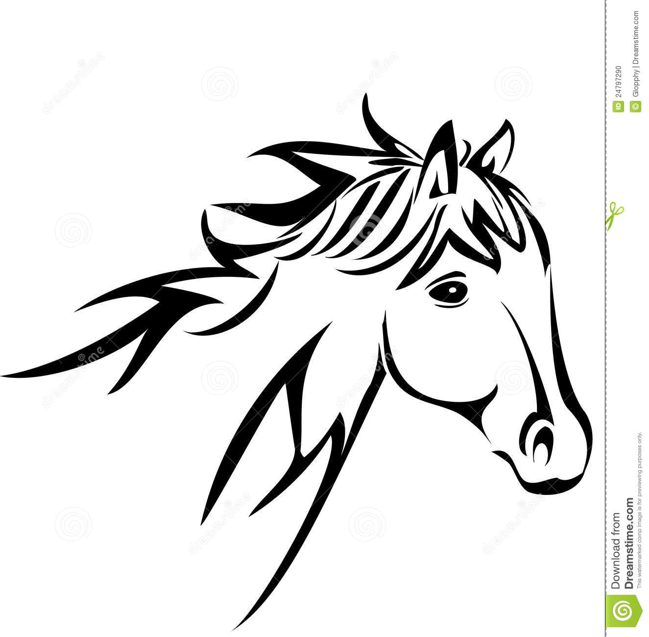 Arabian horse head clipart - photo#16