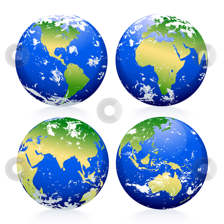 Blue Earth Marbles Stock Vector Clipart Blue Earth Marbles The Base