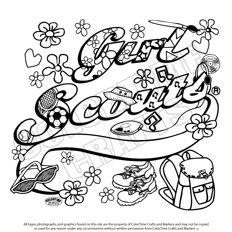 Girl Scout To Color Clipart Clipart Suggest Scout Brownie Coloring Pages