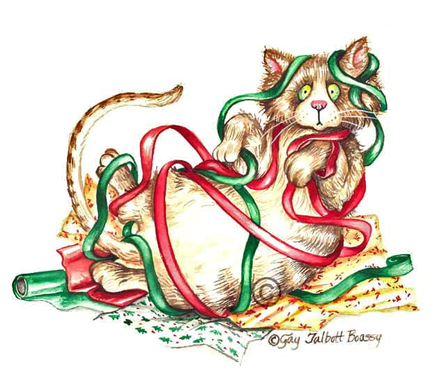 Christmas Cat Clipart