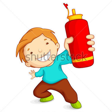 File Browse   People   Vector Illustration Of Boy Showing Water Bottle