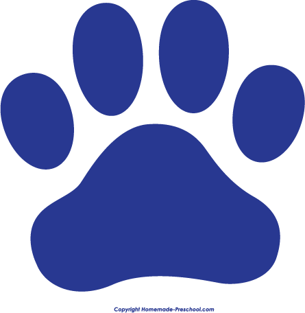Home Free Clipart Paw Prints Clipart Blue Paw Print