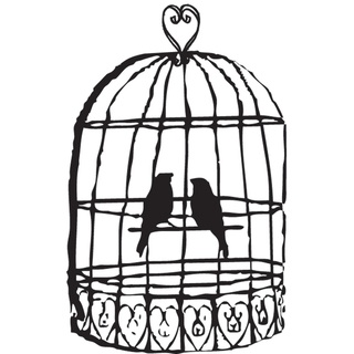 Overstock Com   Mounted Rubber Stamp 2 5x2 Love Bird Cage   Hampton