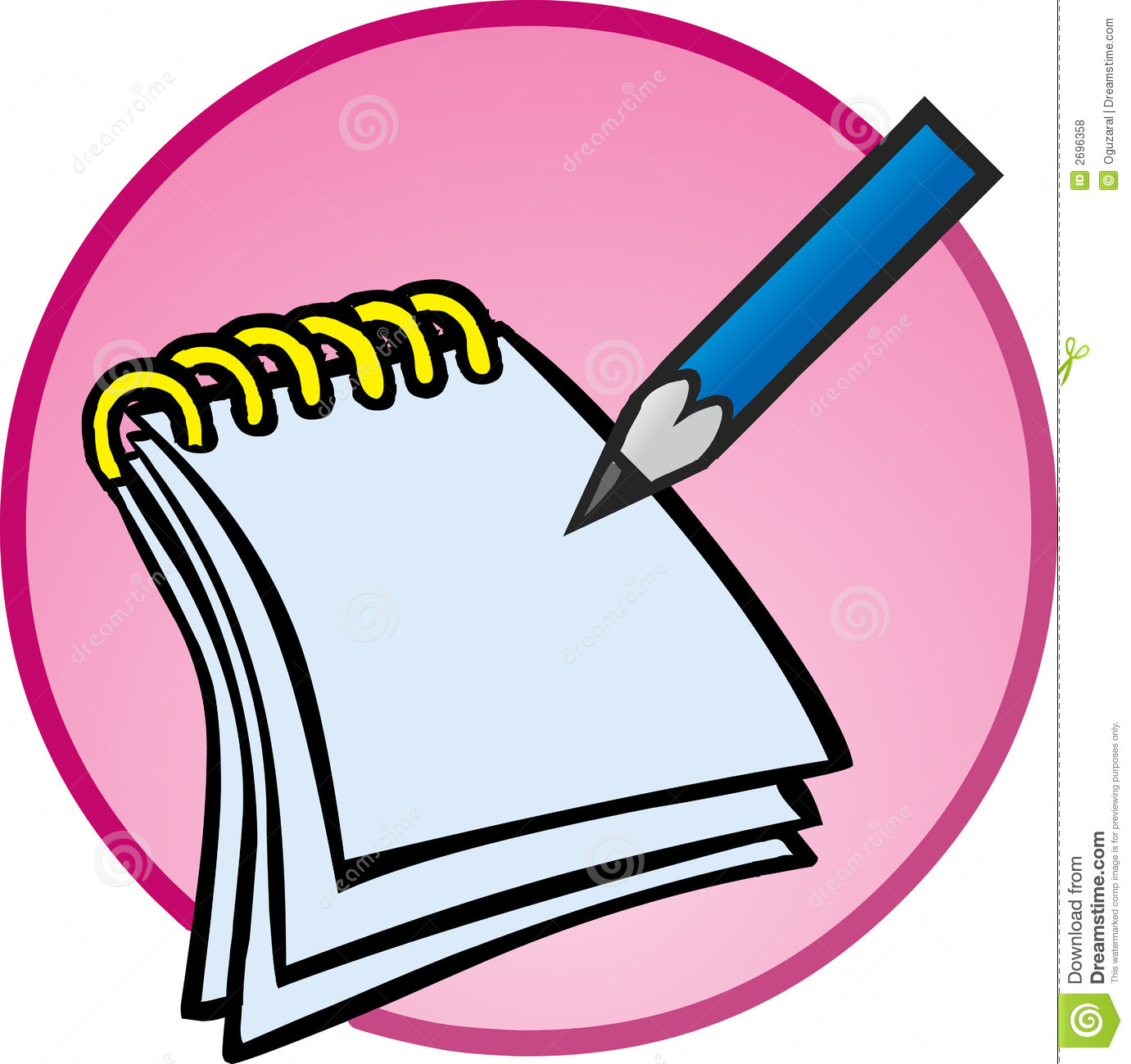 Notebook And Pen Clipart - Clipart Kid