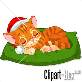 Related Christmas Sleeping Cat Cliparts