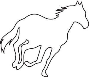 Simple Horse Face Clipart - Clipart Suggest - photo#7