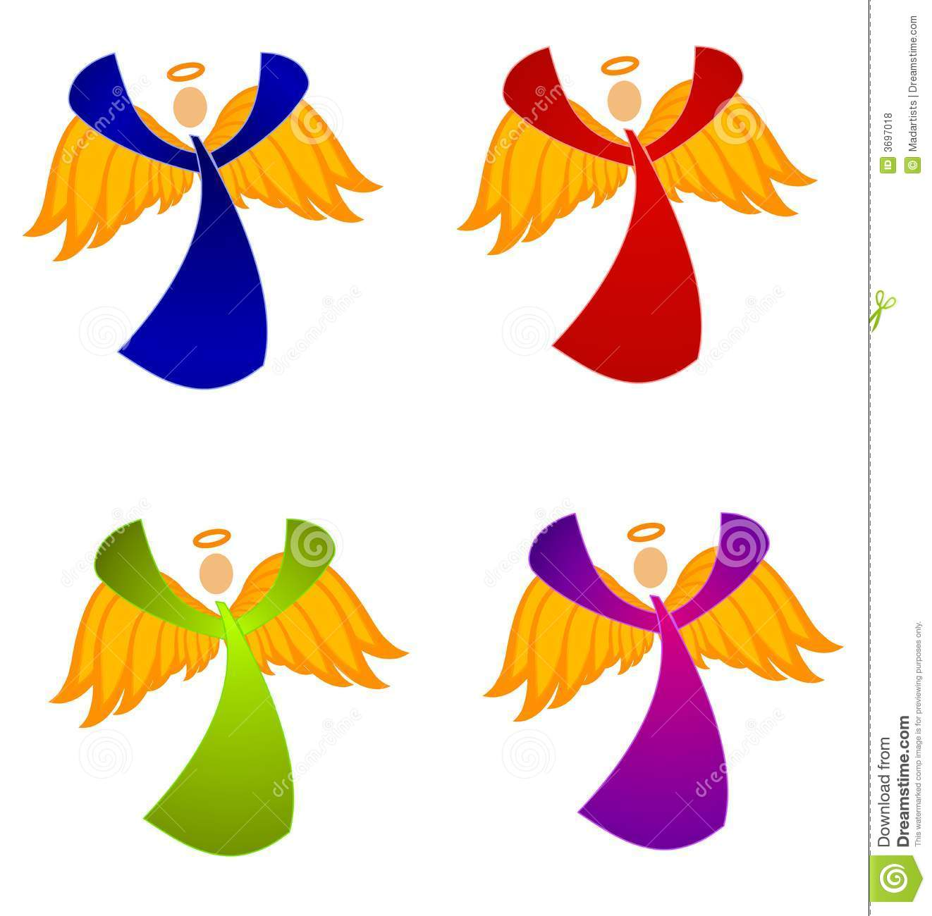Variety Of Christmas Angels Clip Art Royalty Free Stock Photos   Image