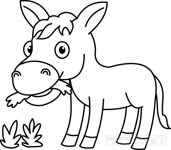 donkey outline clip art wwwimgkidcom the image kid