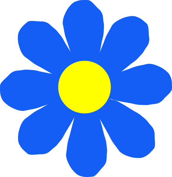Blue Flower Clipart - Clipart Kid