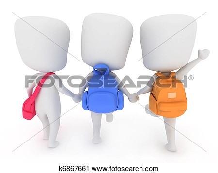 Clipart   Going To School  Fotosearch   Search Clip Art Illustration