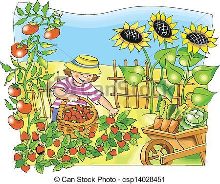 Community Garden Clip Art Garden Image Clipart Kid
