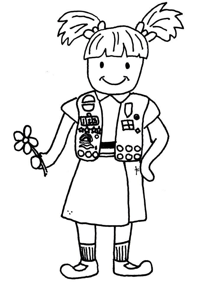 daisy girl scout coloring pages - girl scout to color clipart clipart suggest
